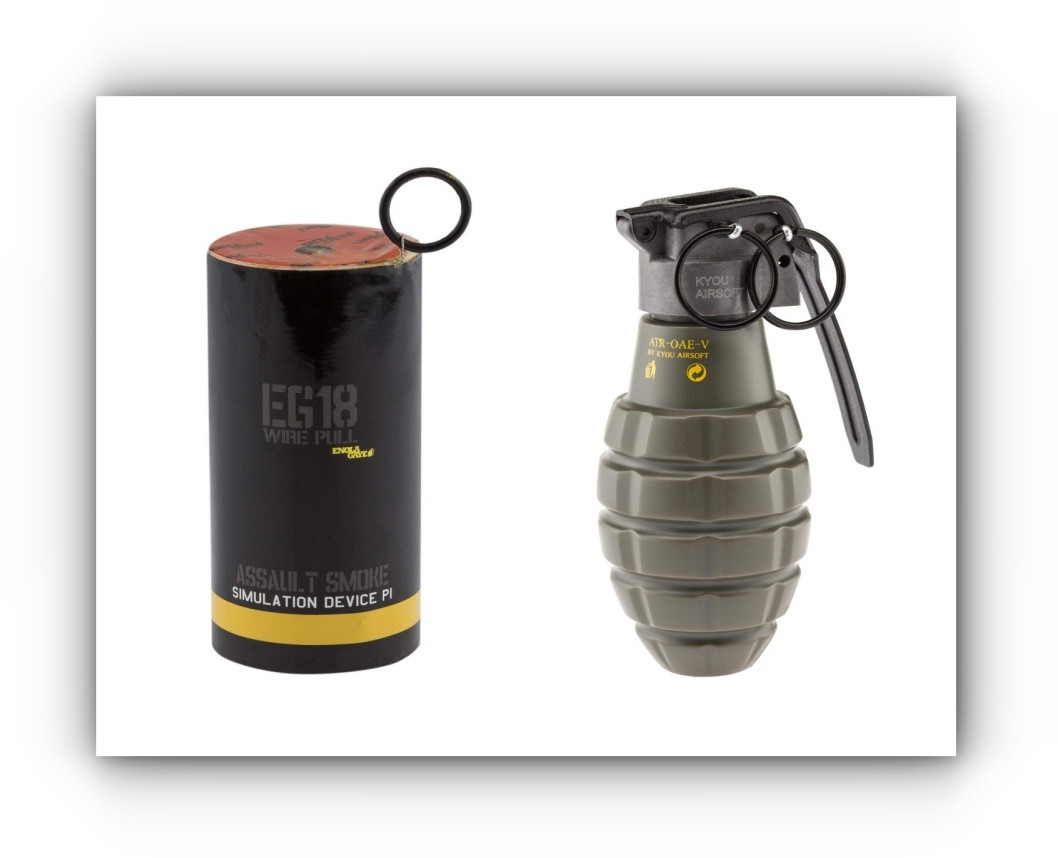 Grenades et fumigènes