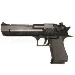 Réplique de desert eagle blowbac semi auto noir co2 chargeur court e=1 j.