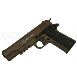 Réplique de colt 1911 culasse metal manuel dark earth 13bb's e=0,7 j. Max