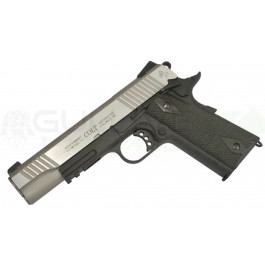 Réplique de colt 1911 rail gun co2 bicolore noir culasse mobile