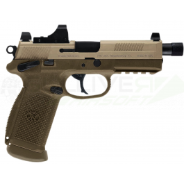 Réplique de poing FN FNX -45 Tactical Dark Earth Gaz Baxs C. Metal