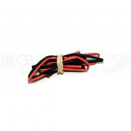 Tube thermo noir et rouge 1.5mm de diam. 2x50cm