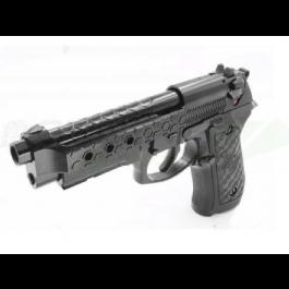 Réplique de poing GBB M92 Hex cut noir gaz full metal