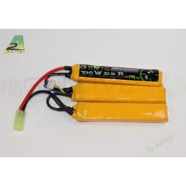 Batterie lipo 2200mah 11,1V - 3 sticks - connecteur mini type