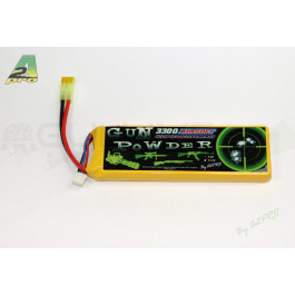 Batterie lipo 3300mah 7,4v connecteur mini type
