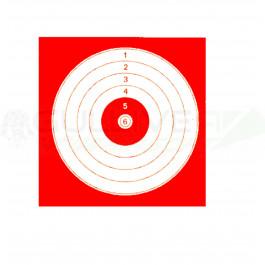 Cibles 14x14cm rouge en paquet de 100