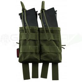 Pochette PMC double chargeur AK verte NUPROL