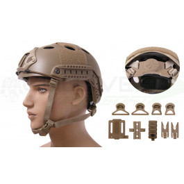 Casque Emerson Fast PJ ajustable Coyote