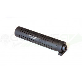 Silencieux Noir 180mm 14mm montage rapide avec cache flamme type M4