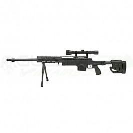 Réplique Sniper MB4411D avec lunette et bipied noir
