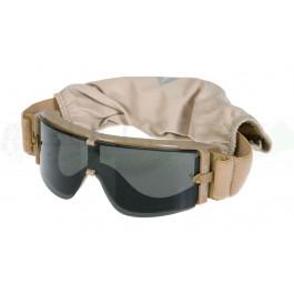 Masque de protection anti-buée tan 3 verres