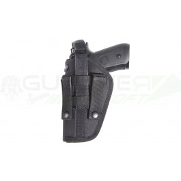 Holster souple noir ambidextre pour molle