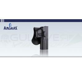 Holster rigide à retention type Glock 17 Noir Amomax