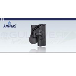 Holster rigide à retention type Glock 19 Noir Amomax