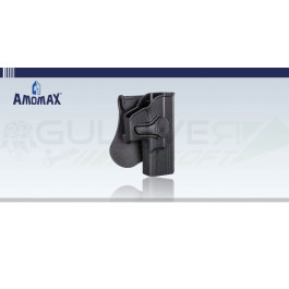 Holster rigide à retention type Glock Noir Amomax