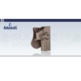 Holster rigide à retention type Glock Tan Amomax