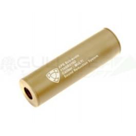 Silencieux tan 14MM CCW/CW 110MM pour réplique APS