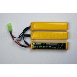 Batterie Li-Po Gun powder 1100mah 11,1v 3 sticks