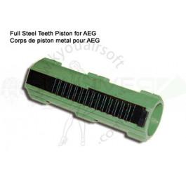 Corps de piston renforcé avec dents en metal