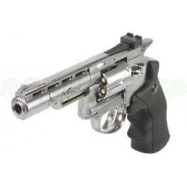 """Réplique de Dan Wesson 4"""" Silver 1,8J"""