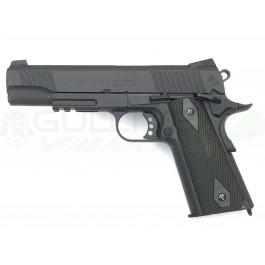 Réplique de colt 1911 rail gun co2 noir mat