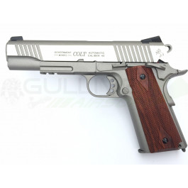 Réplique de colt 1911 rail gun co2 inox