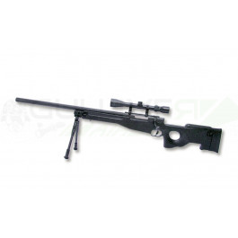 Réplique Sniper G96A1 avec lunette et bipied noir
