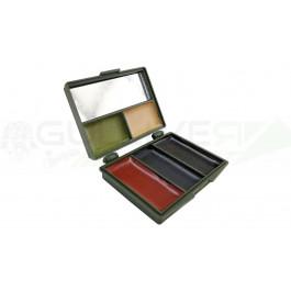 Maquillage camo noir marron vert
