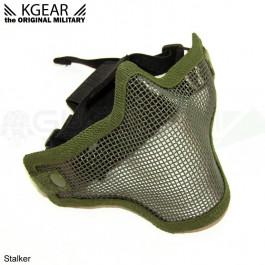 Masque Stalker V2 bas de visage Grillagé Vert