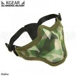 Masque Stalker V2 bas de visage grillagé Camo