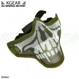 Masque Stalker V2 bas de visage Grillagé Skull Vert
