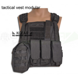 Gilet Tactique modulable Noir