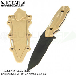 Couteau type MH141 en plastique souple - Tan