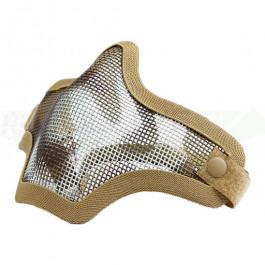 Masque Stalker V2 bas de visage Grillagé Tan Camo