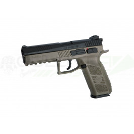 Réplique pistolet cz p-09 culasse metal fde noir gaz ASG + malette