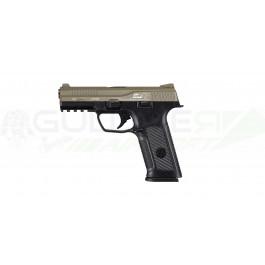 Réplique pistolet GBB black léopard eyes alpha Noir culasse tan - ics