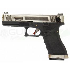 Réplique de poing WE S18C G-Force T7 Silver/BK GBB