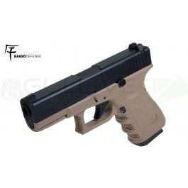 Réplique de poing GBB type Glock 23 TAN Saigo/KJW