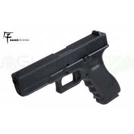 Réplique de poing GBB CO2 type Glock 17 Metal Noir Saigo/KJW