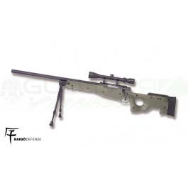 Réplique SPRING Sniper L96 OD avec lunette et bi-pied Saigo/WE