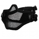 Masque grillagé anti-condensation swiss arms bas visage noir