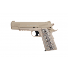 COLT M45A1 CO2 Tan culasse metal fixe 6mm 15bb's E=1j Max