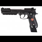 Réplique de poing M92 Biohazard avec compensateur Black full metal