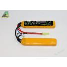 Batterie lipo 2200mah 7,4v - 2 Sticks - connecteur mini type