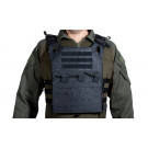 Gilet Tactique V18 plate carrier coupe laser + 2 plaques protection dummy