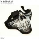Masque Stalker V2 bas de visage Grillagé Skull Noir