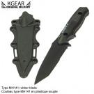 Couteau type MH141 en plastique souple - Noir