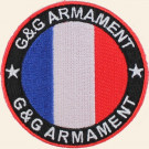 Patch G&G rond Bleu Blanc Rouge