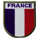 Patch brodé France autogrippant